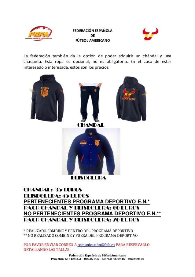 Federación Española de Fútbol Americano Provenza, 537 Entlo. A – 08025 BCN - +34 934 46 09 46 – fefa@fefa.es FEDERACIÓN ES...