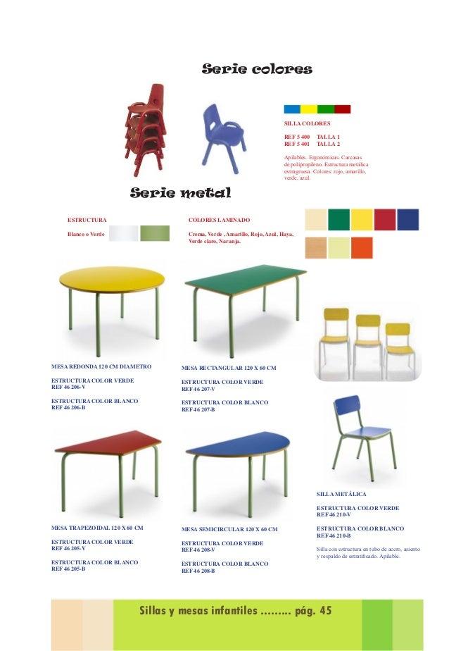 Catalogo de propuestas equipamiento para guarderias 2014 2015 for Medidas sillas ninos