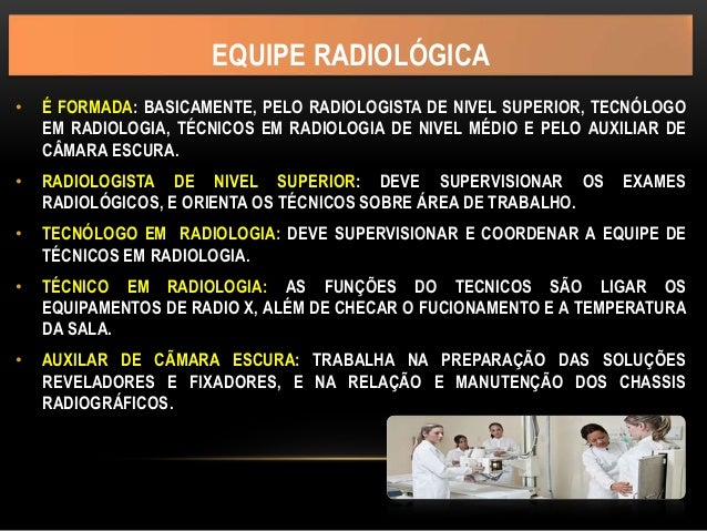Equipe radiológica Slide 2