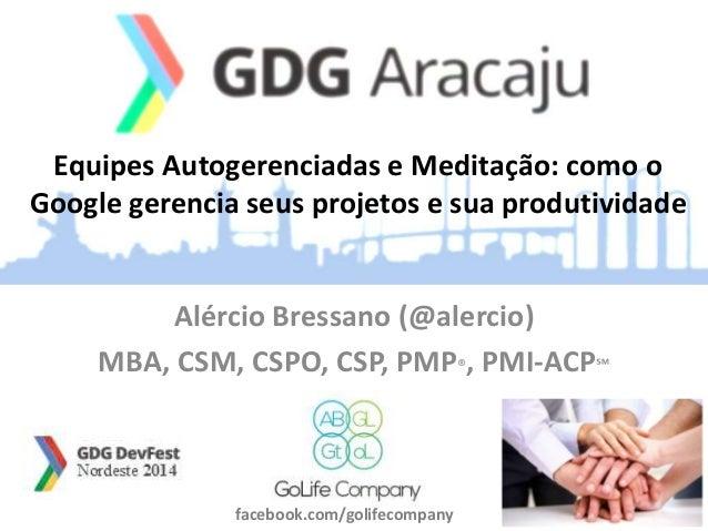 Equipes Autogerenciadas e Meditação: como o  Google gerencia seus projetos e sua produtividade  Alércio Bressano (@alercio...
