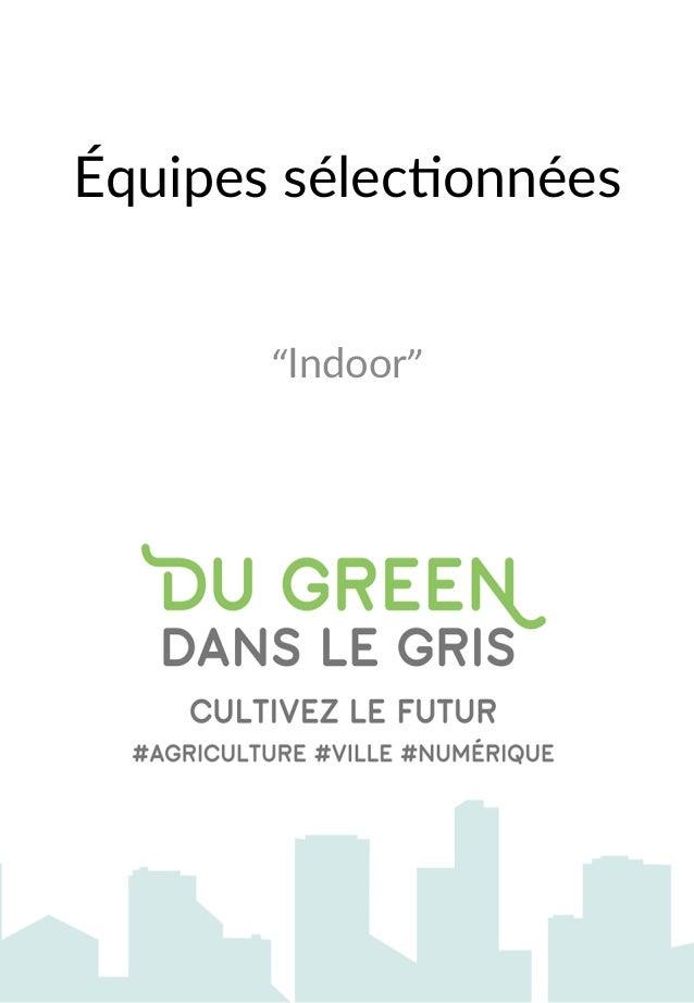 """Équipes sélec,onnées  """"Indoor"""""""