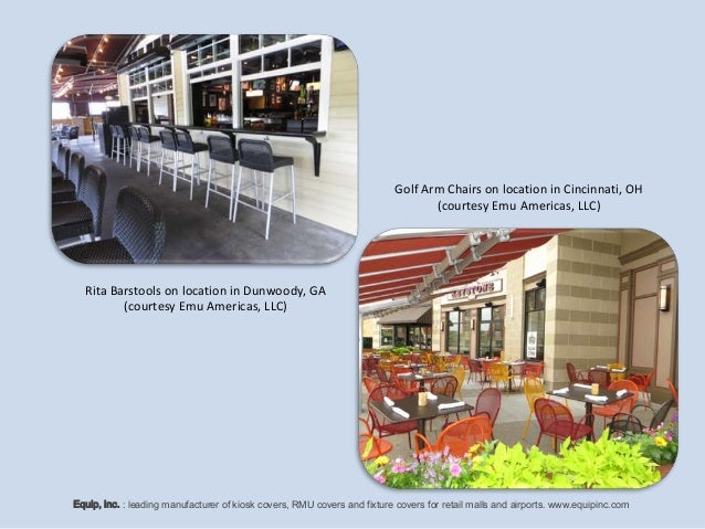 Retail Outdoor Commercial Seating Solutions For Kiosks, Concession St…