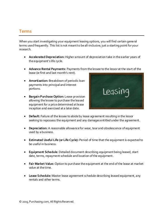 Equipment Leasing Purchasing Guide Purchasing