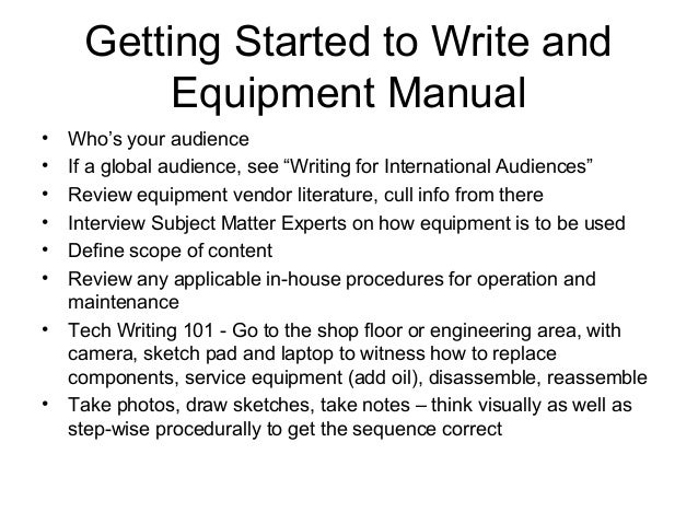 Equipment manual writing may, 2014 final