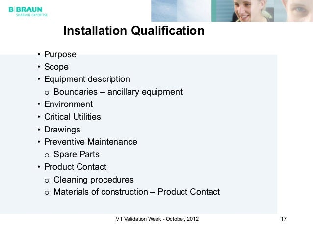Operational qualification protocol template image for Equipment installation qualification template