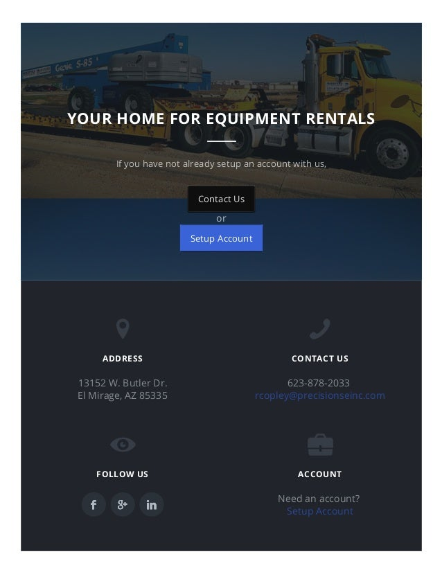 7/1/2015 EquipmentRentalPhoenix–RentalEquipmentCompanyAZ http://equipmentrentalphoenix.com/ 7/8 If you have not alr...