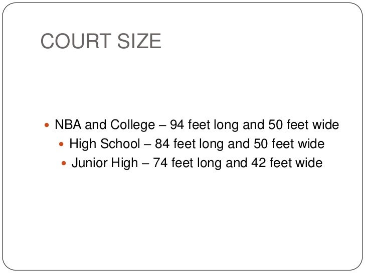 Equipments and measurements in basketball