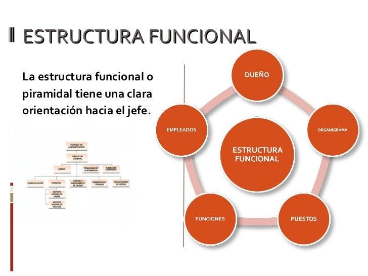 Estructura Operativa Vs Estructura Funcional
