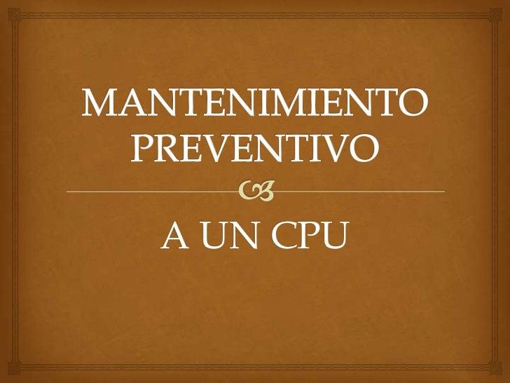 A UN CPU