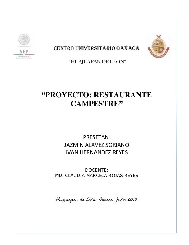 proyecto restaurante campestre
