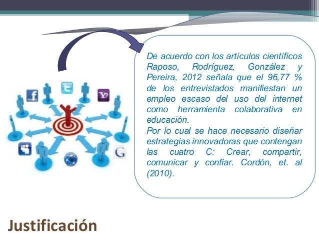 De acuerdo con los artículos científicos Raposo, Rodríguez, González y Pereira, 2012 señala que el 96,77 % de los entrevis...