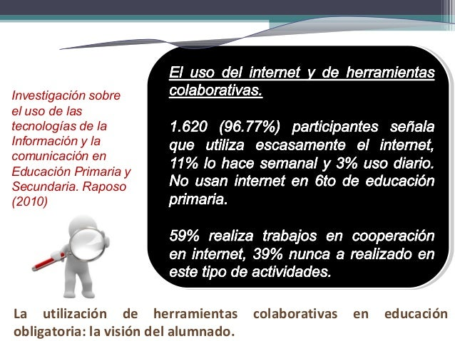 Investigación sobre el uso de las tecnologías de la Información y la comunicación en Educación Primaria y Secundaria. Rapo...
