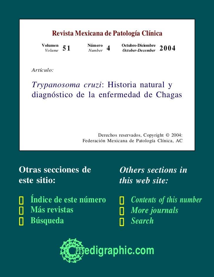 Revista Mexicana de Patología Clínica       Volumen          Número         Octubre-Diciembre        Volume   51     Numbe...