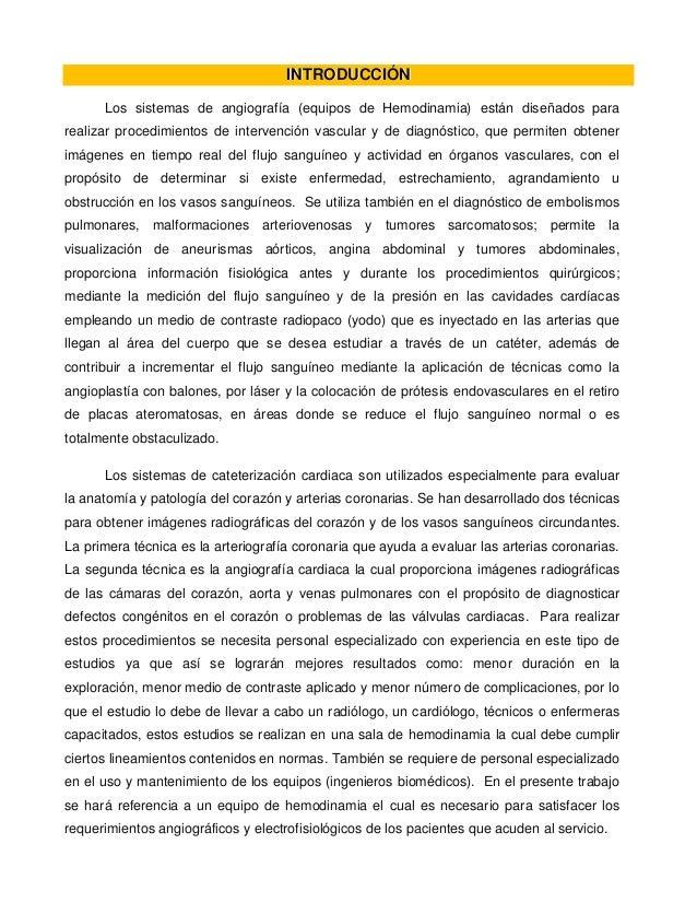 Equipo de Hemodinamia (Imagenología Avanzada I)
