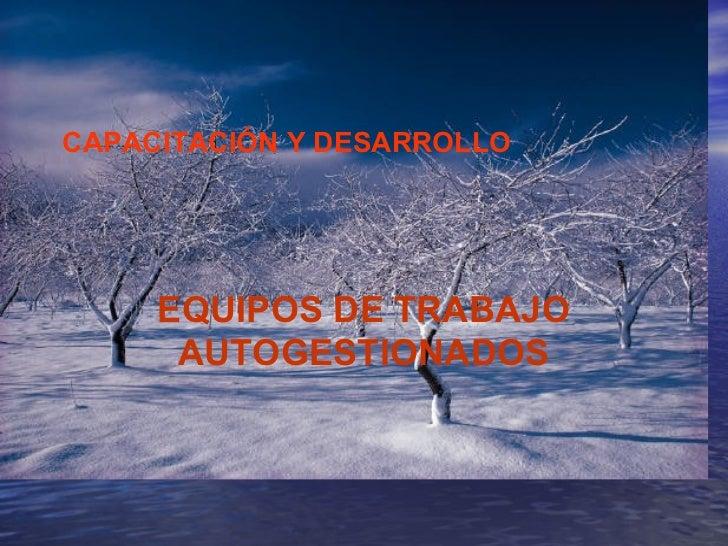 CAPACITACIÓN Y DESARROLLO EQUIPOS DE TRABAJO AUTOGESTIONADOS