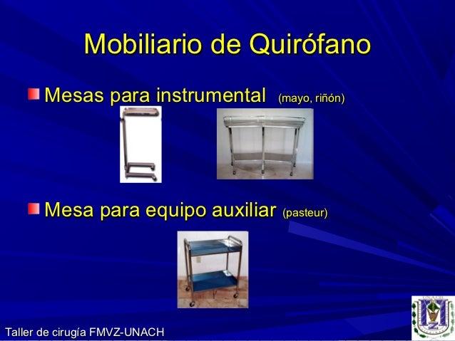 Equipo y material qx for Caracteristicas del mobiliario