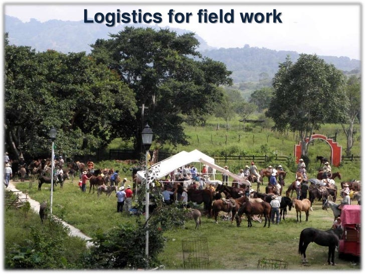 Logistics for field work• There will be:   – Eight stations (A, B, C, D, E, F, G and H)   – Eight teams (1, 2, 3, 4, 5, 6,...