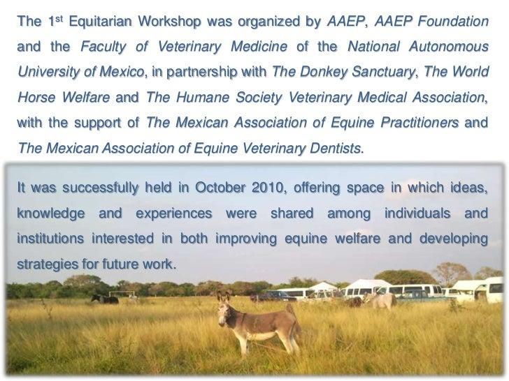 1st Equitarian Workshop      October 17th – 21st, 2010     CEIEGT – FMVZ – UNAM         Veracruz, Mexico