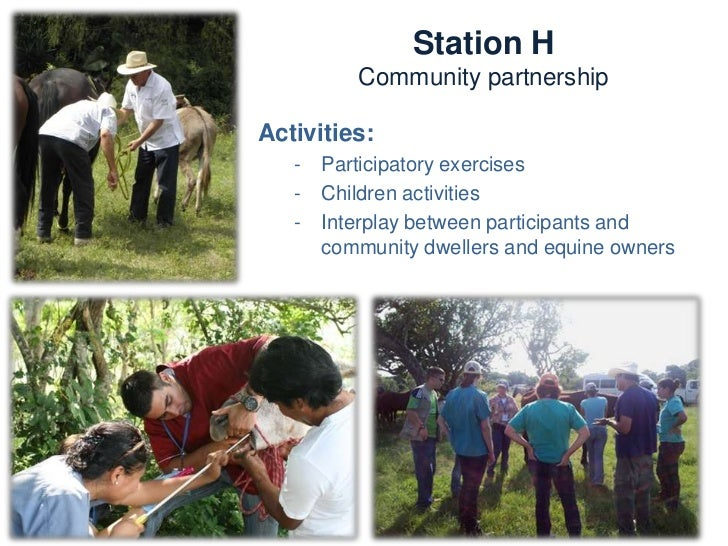 Station H       Community partnershipKnowledge and skills:   -    Communication   -    Participatory techniques   -    Ext...