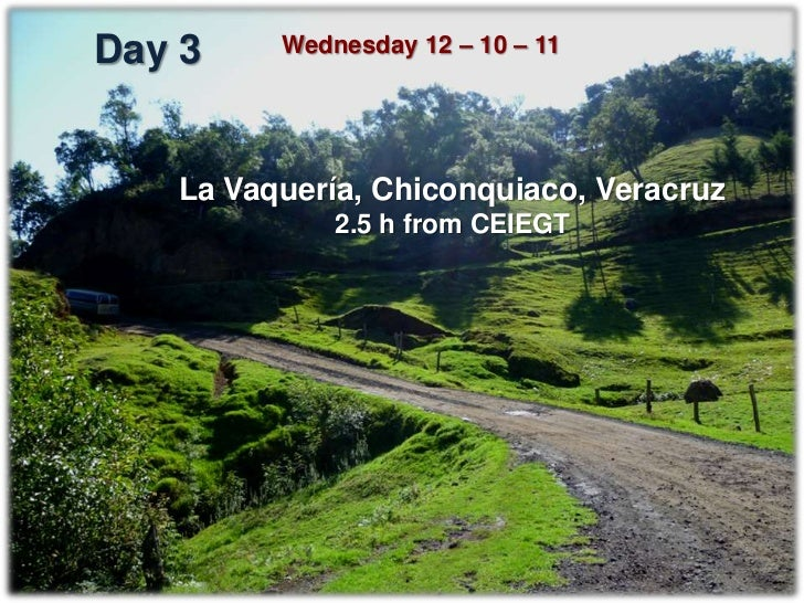 La Vaquería, Chiconquiaco, Ver.                   Donkeys   Horses   Mules   TOTALExpected equines     30        50      1...