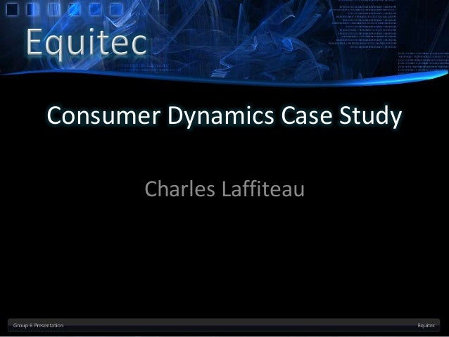 Plugging in the consumer case analysis