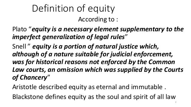 Amazing Definition Of Equity ...