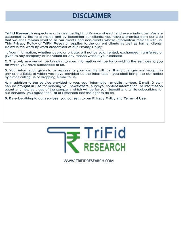 WWW.TRIFIDRESEARCH.COM DISCLAIMER