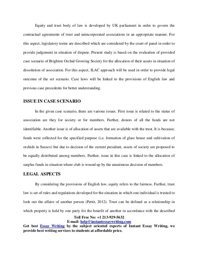 Informative Essay Prompts Sample Report On Equity And Trusts  Charles Dickens Essay also Criminology Theories Essay Sample On Equity And Trusts By Instant Essay Writing Bob Marley Biography Essay