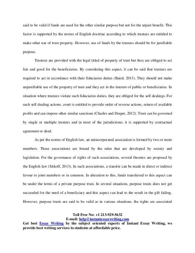 sample on equity and trusts by instant essay writing  4