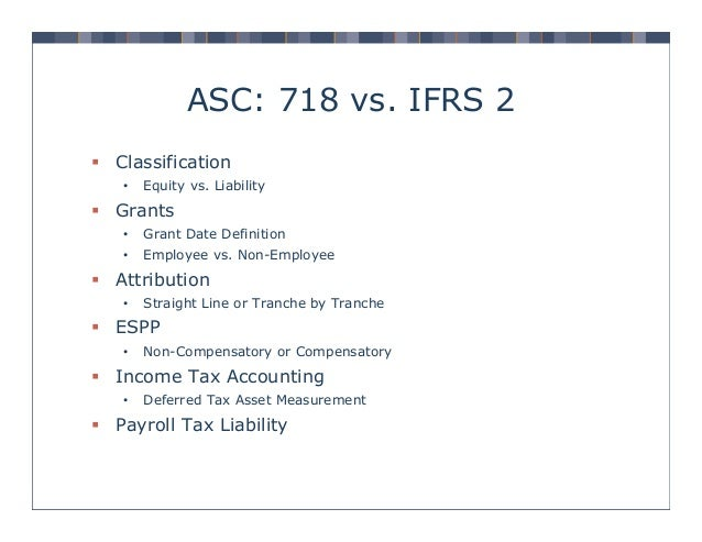 Ifrs deferred tax asset for stock options