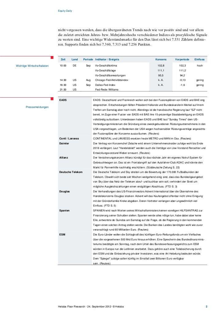 Equity Daily                            nicht vergessen werden, dass die übergeordneten Trends nach wie vor positiv sind u...