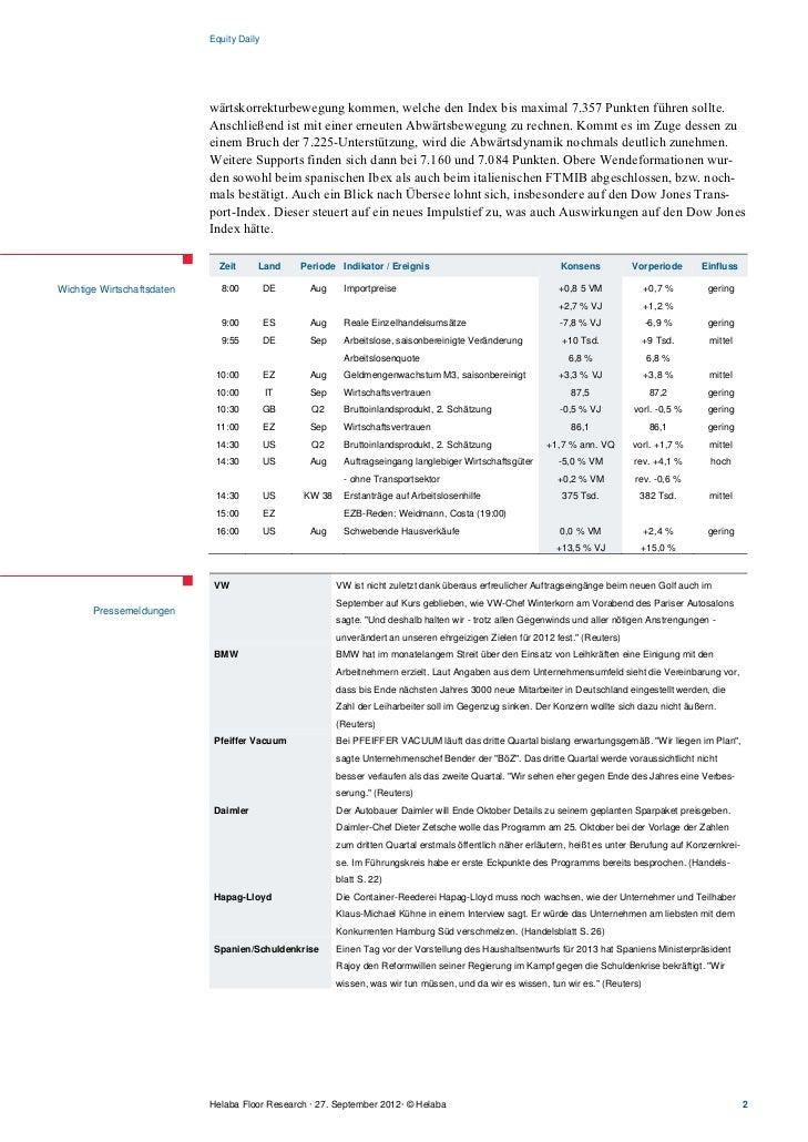 Equity Daily                            wärtskorrekturbewegung kommen, welche den Index bis maximal 7.357 Punkten führen s...
