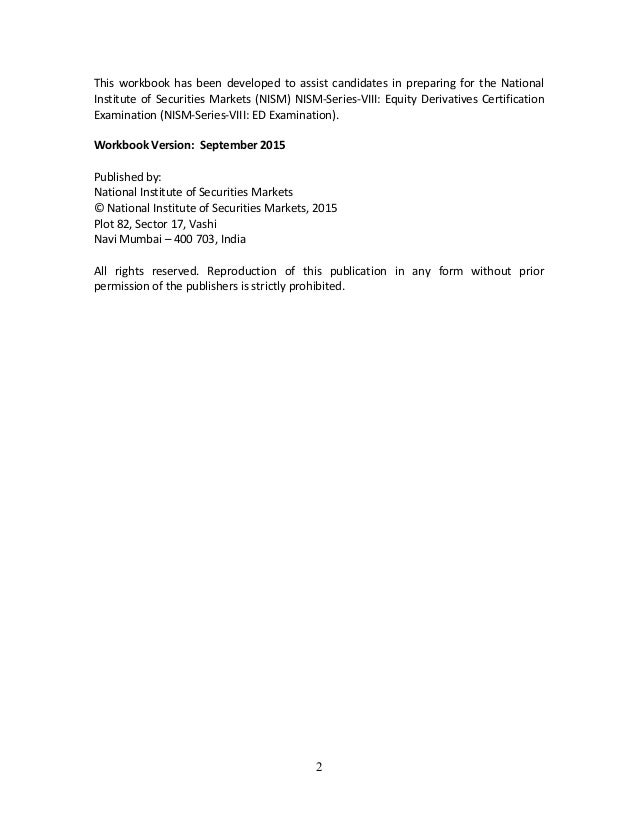 final nism series viii equity School for certification of intermediaries (sci) nism-series-ix: merchant banking certification examination page 2 of 4 disclosures to sebi appointment of.