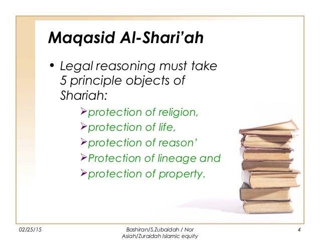 The relation of maqasid al shariah