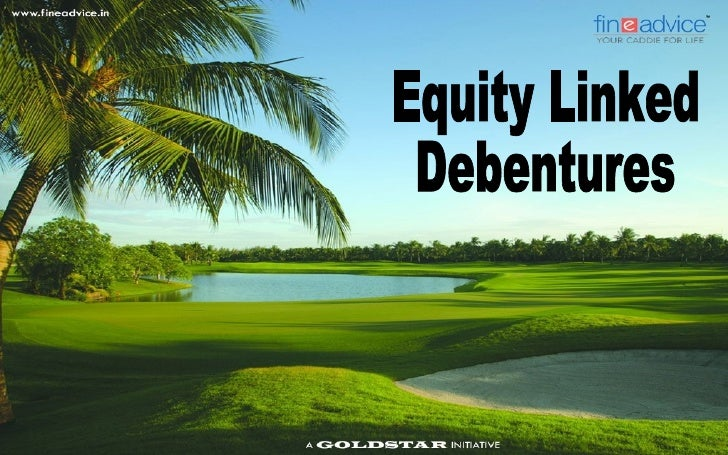 Equity Linked Debentures   With the high volatility in the equity markets, investors are increasingly looking at    finan...