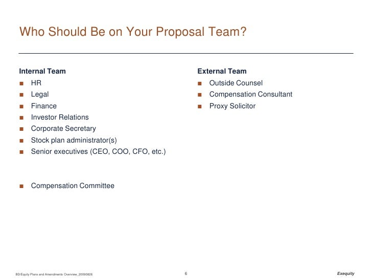 Equity Plans And Amendments Overview 20090826 – Stock Plan Administrator