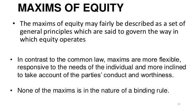 development of common law and equity Lord diplock: my lords, if by 'rules of equity' is meant that body of substantive and adjectival law that, prior to 1875, was administered by the court of chancery.