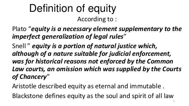Elegant Definition Of Equity ...