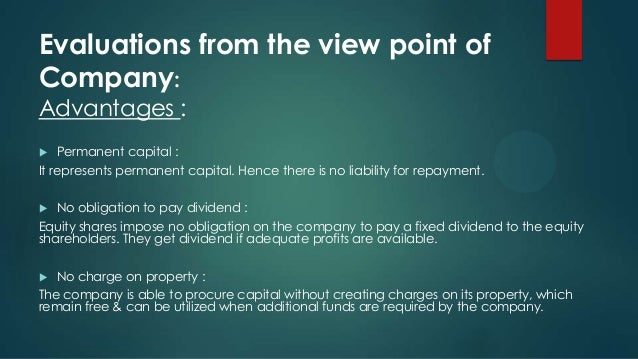 advantages of preference shares