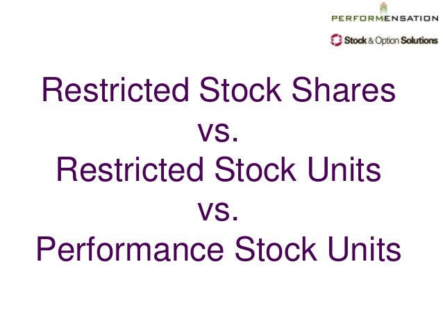 Incentive stock options vs restricted stock units