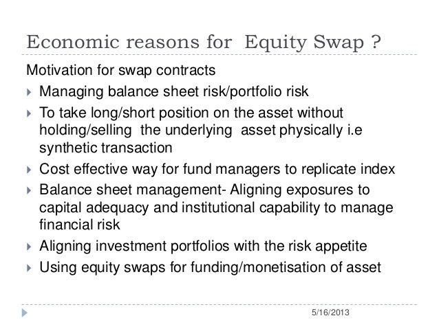 Contract for difference equity swap