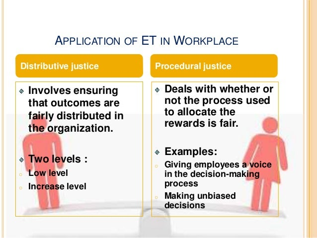GLOBAL APPLICATION OF ET  Equity  Individual outcomes or  rewards will be in  proportion to individual  inputs and efforts...