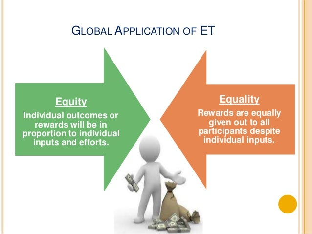 GLOBAL APPLICATION OF ET  Inputs Outcomes Choice of a  referent  Individualism  (Western)  Effort,  education,  intelligen...
