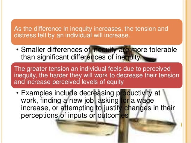 equity theory The equity theory of relationships is based on a theory developed by workplace  and behavioral psychologist john stacey adams it explores the perceptions of.