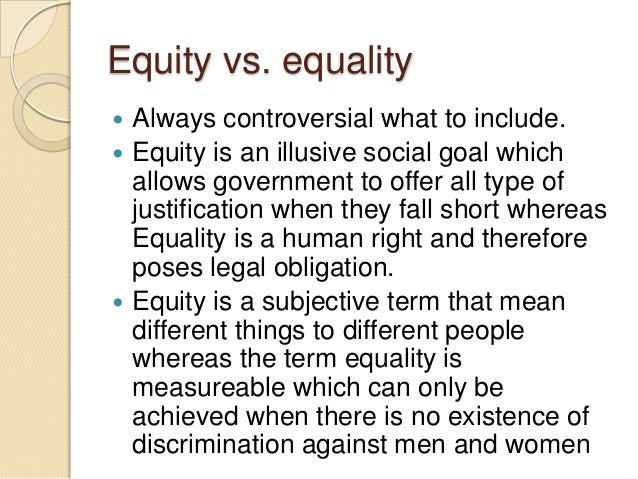 what does no equity mean