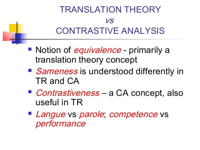 the concept of equivalence in translation essay Abstract translation entails the presentation of texts and their meanings, which originally exist in a particular language, in another languagescholars such as catford (1965),wisner g (2013), osundare (1995) andosakwe (1998) have studied the intricacies in translationyet, little was done on the concept of translation equivalence especially.