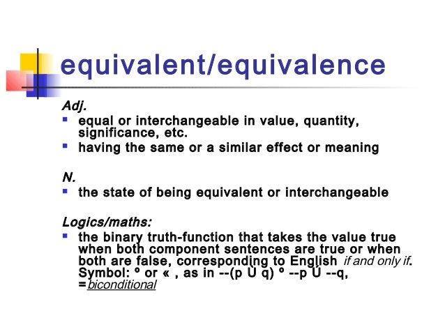 Equivalencein translation Slide 2