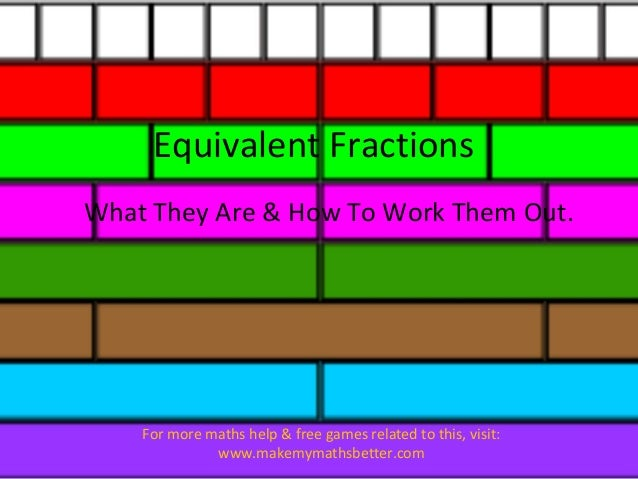 Equivalent Fractions What They Are & How To Work Them Out.  For more maths help & free games related to this, visit: www.m...
