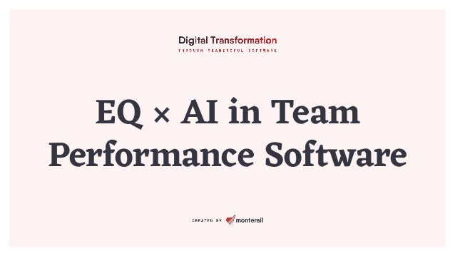 EQ × AI in Team Performance Software