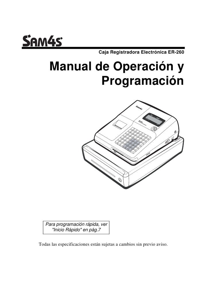 Manual de Programación SAM4S Er-260